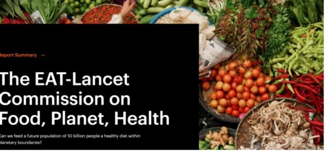 Alimentazione sana e sostenibile per il 2050